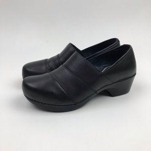 DANSKO 'Tenley' Black Leather Pro Clogs Sz 39